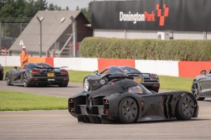 The McMurtry Spéirling lines up with a number of Koenigseggs ahead of the supercar parade